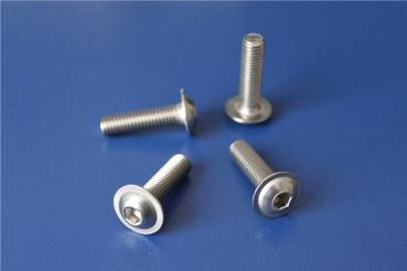 rostfrei OPIOL QUALITY Linsenkopfschrauben mit Flansch und Innensechskant 20 St/ück Linsenkopf M6x60 ISO 7380 Flachkopfschrauben