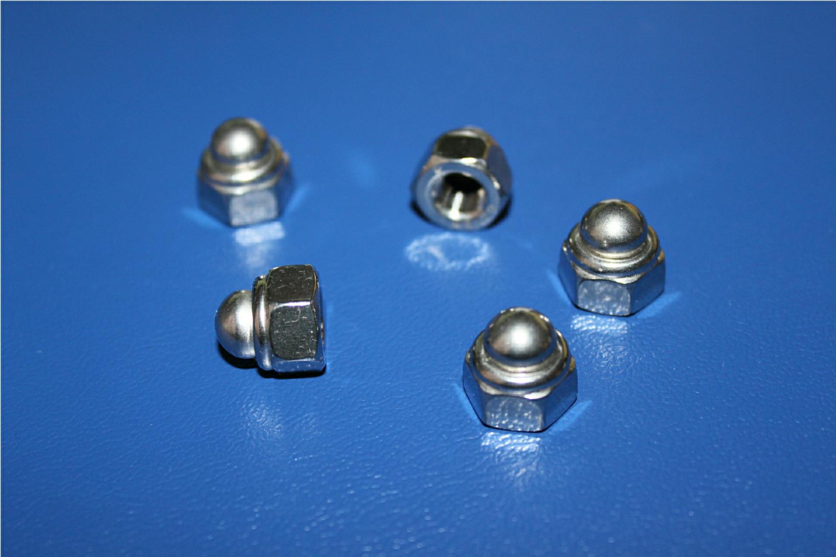 Hutmuttern M8 DIN 986 selbstsichernd 10 St/ück - Sechskant-Hutmuttern Stopmuttern Sicherungsmuttern Edelstahl A2